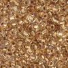 Pony Bead 6/0 Crystal Gold Lined Metallic